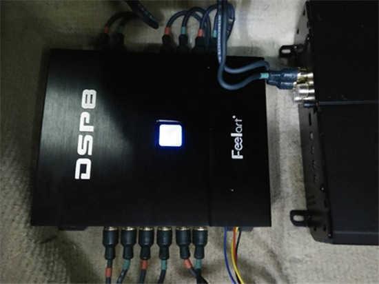 济南丰田锐志汽车音响改装升级芬朗dsp8音频处理器