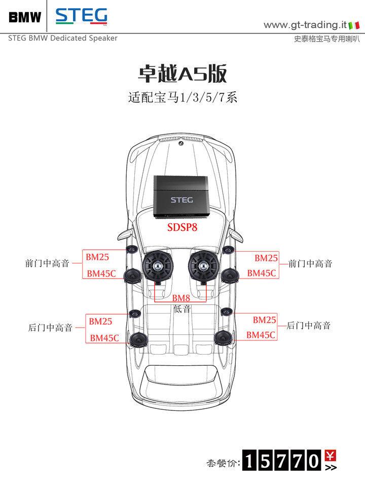 史泰格宝马专车专用卓越A5版套餐15770元