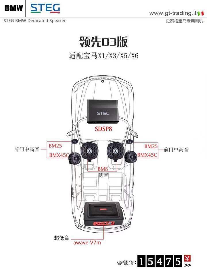 史泰格宝马专车专用领先B3版套餐15457元